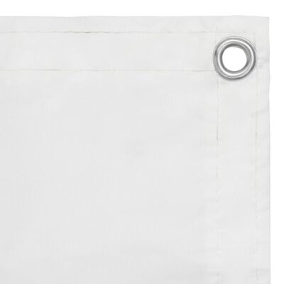 vidaXL Balkongskärm vit 90x600 cm oxfordtyg