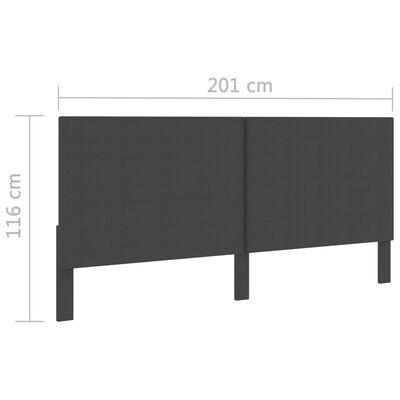 vidaXL Huvudgavel mörkgrå tyg 200x200 cm