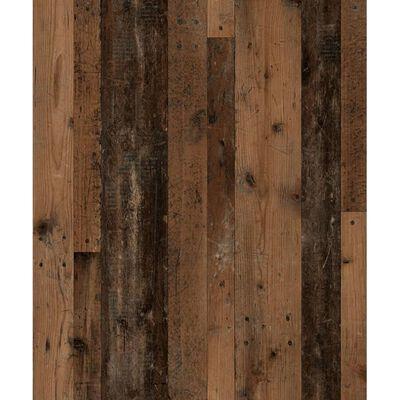 FMD Sidobord med dörr 88,5cm gammeldags mörk