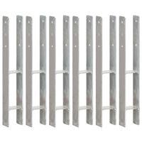 vidaXL Jordankare 6 st silver 8x6x60 cm galvaniserat stål