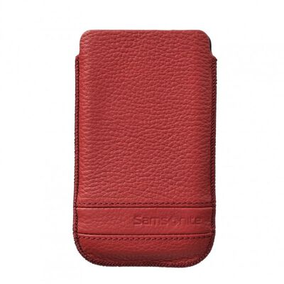 SAMSONITE CLASSIC Mobilväska Läder XL Röd till tex S3/S4
