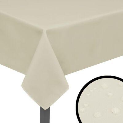 vidaXL Bordsduk 5 st gräddvit 190x130 cm, Cream