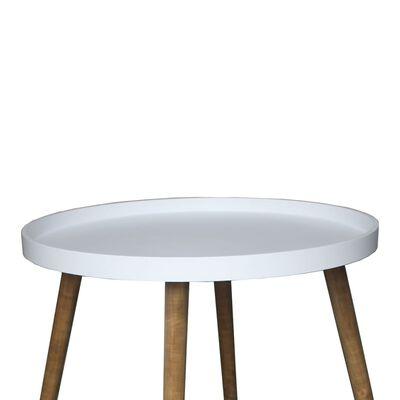 bhp Soffbord med träben MDF vit B154324D