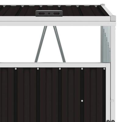 vidaXL Skjul för sopkärl brun 72x81x121 cm stål
