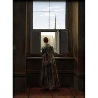 Woman at a Window,Caspar David Friedrich,44x37cm