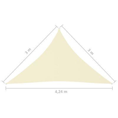 vidaXL Solsegel oxfordtyg trekantigt 3x3x4,24 m gräddvit