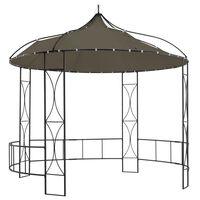 vidaXL Paviljong 300x290 cm taupe rund