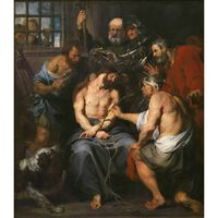 Crowning with Thorns,Anthony Van Dyck,50x44cm