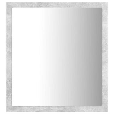 vidaXL Badrumsspegel med LED betonggrå 40x8,5x37 cm spånskiva