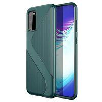 S-Case silikon skal Samsung Galaxy S20 (SM-G980F) Grön