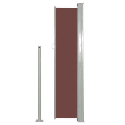 vidaXL Infällbar sidomarkis 140 x 300 cm brun