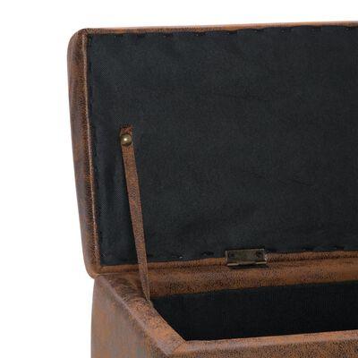 vidaXL Bänkar med fotpall 3 st konstmocka brun