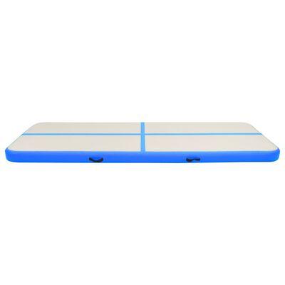 vidaXL Uppblåsbar gymnastikmatta med pump 500x100x15 cm PVC blå