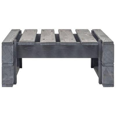 vidaXL Pallottoman grå impregnerad furu