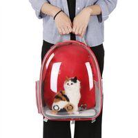 Röd Katt Hund Väska Ryggsäck Transportväska