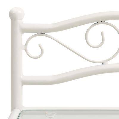 vidaXL Sängskåp vit och transparent 43x33x65 cm metall och glas