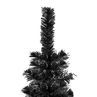 vidaXL Julgran smal svart 150 cm