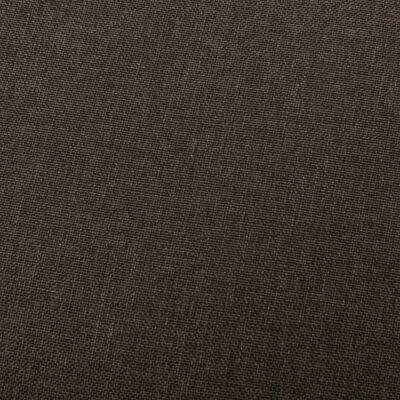 vidaXL Massagefåtölj mörkbrun tyg