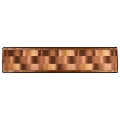 vidaXL Halkfri gångmatta beige block 67x300 cm