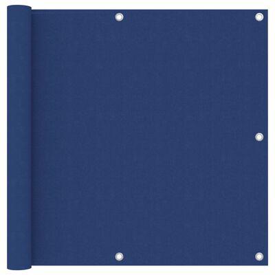 vidaXL Balkongskärm blå 90x400 cm oxfordtyg