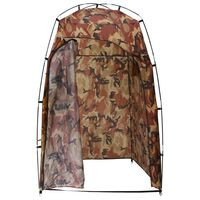 vidaXL Dusch/WC/omklädnings-tält kamouflage