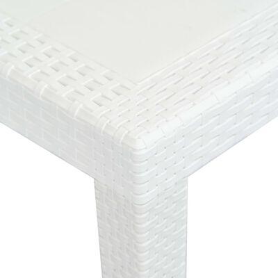 vidaXL Trädgårdsbord vit 220x90x72 cm konstrotting