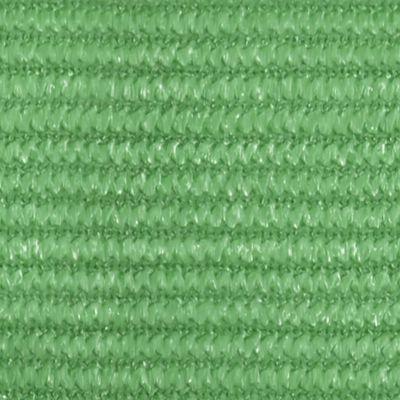 vidaXL Solsegel 160 g/m² ljusgrön 3,5x4,5 m HDPE