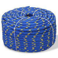 vidaXL Båtlina i polypropylen 14 mm 50 m blå