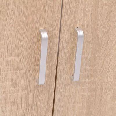 vidaXL Badrumsmöbler nio delar med handfat beige