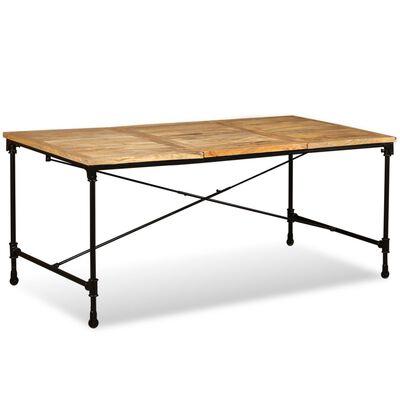 vidaXL Matbord i massivt mangoträ 180 cm