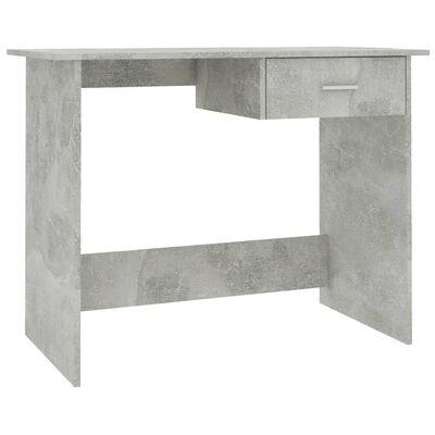 vidaXL Skrivbord betonggrå 100x50x76 cm spånskiva