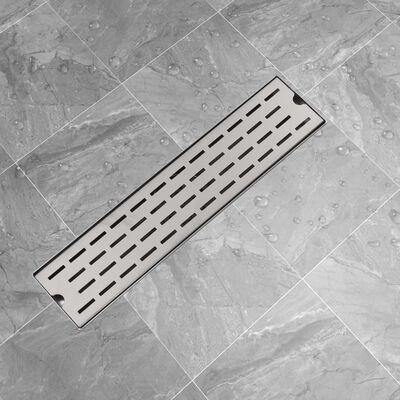 vidaXL Avlång golvbrunn springdesign 530x140 mm rostfritt stål