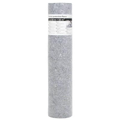 vidaXL Målarmatta halkfri 50 m 280 g/m² grå