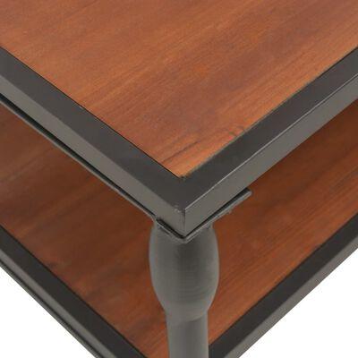 vidaXL Soffbord med hylla 120x60x40 cm massivt granträ