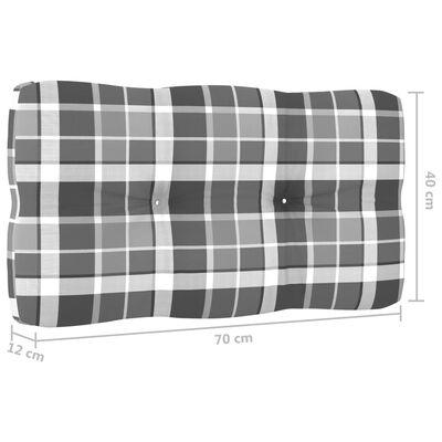 vidaXL Dynor till pallsoffa 2 st grått rutmönster