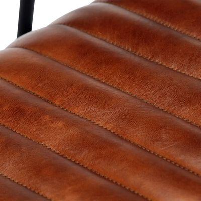 vidaXL Gungfåtölj brun äkta läder