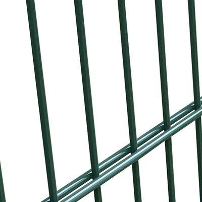 vidaXL Stängselpanel med stolpar 6x2 m antracit grå
