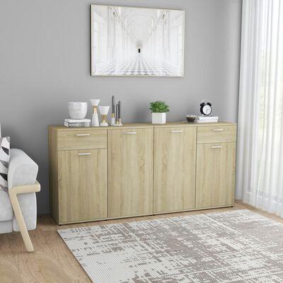 vidaXL Skänk sonoma-ek 160x36x75 cm spånskiva