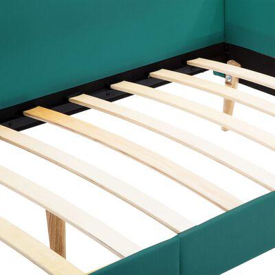 vidaXL Bäddsoffa med memoryskummadrass sängram grön tyg