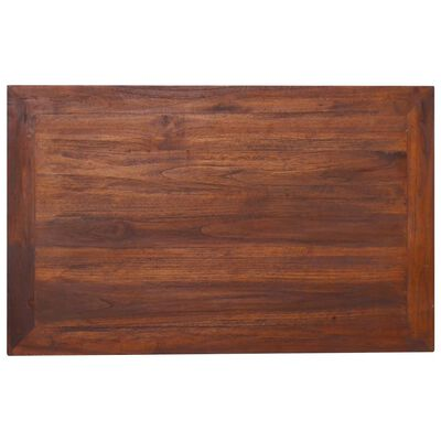 vidaXL Soffbord 80x50x40 cm massiv teak