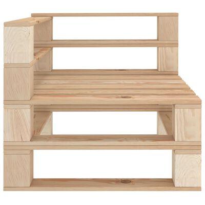 vidaXL Pallsoffa hörnsektion trä