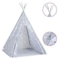 vidaXL Tipitält för barn polyester med väska grå 115x115x160 cm