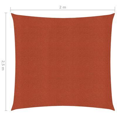 vidaXL Solsegel 160 g/m² terrakotta 2x2,5 m HDPE