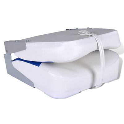 Båtstol vikbar med blåvit kudde 41x36x48 cm