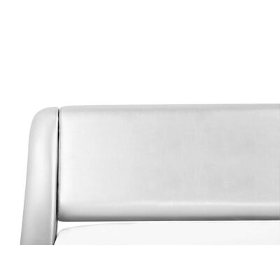 Vattensäng 180 x 200 cm konstläder silver AVIGNON