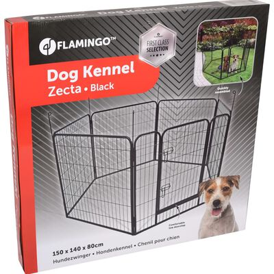 FLAMINGO Hundhage Zecta 162x140x80 cm svart,