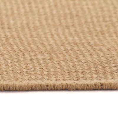 vidaXL Jutematta med latexundersida 70x130 cm naturlig