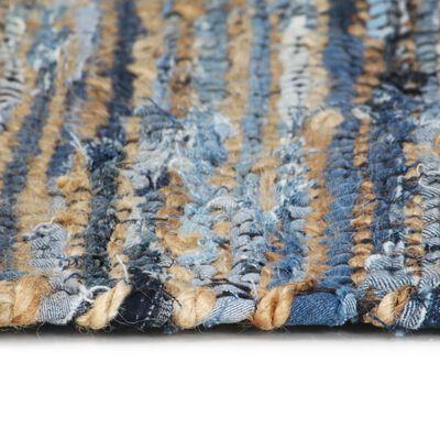 vidaXL Handvävd jutematta Chindi denim 80x160 cm flerfärgad