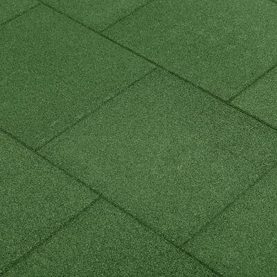 vidaXL Fallskyddsmattor 12 st gummi 50x50x3 cm grön