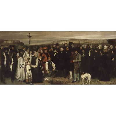 A Funeral in Ornans,Gustave Courbet,80x37cm